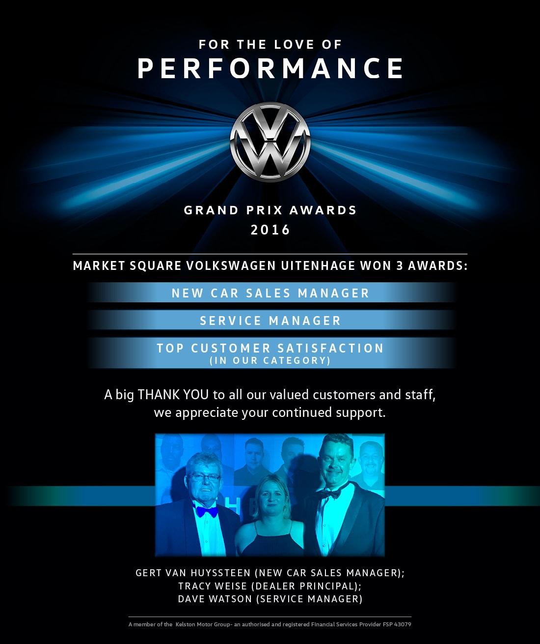 VW Awards 2016